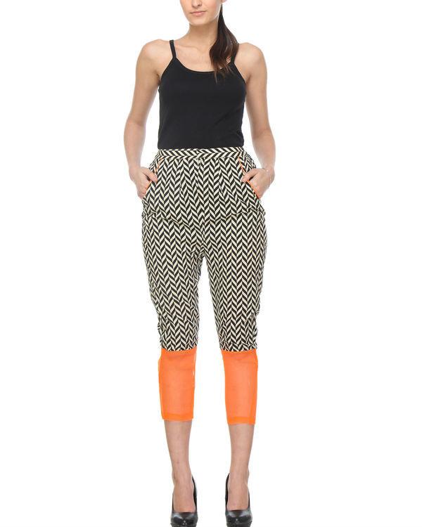 Chevron orange trouser