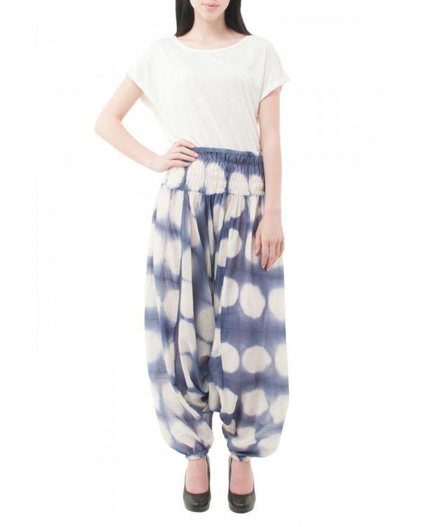 Hand dyed shibori harem pants