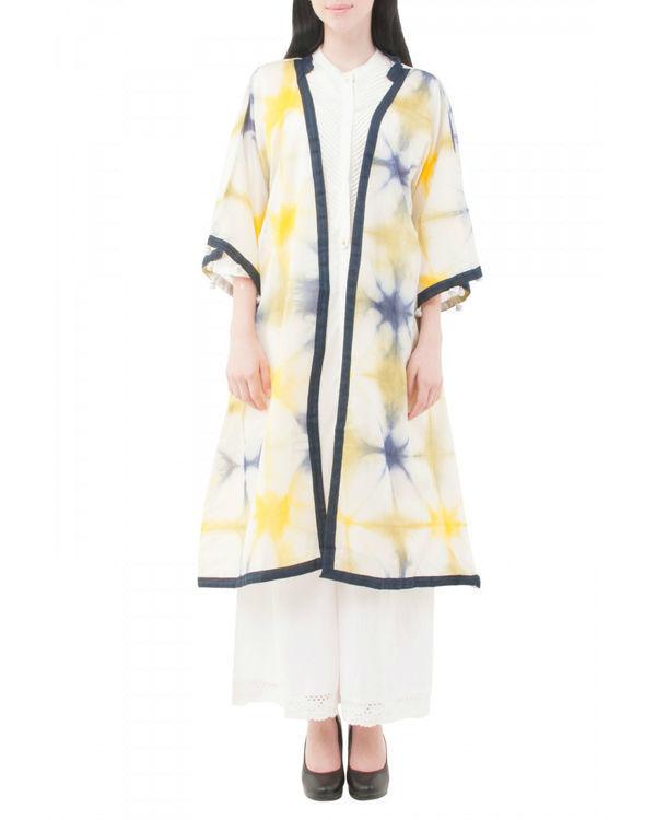 Yellow shibori coverup jacket