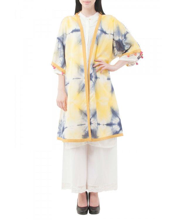 Ivory shibori coverup jacket