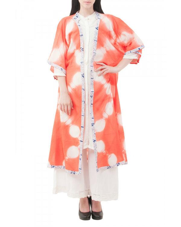 Mossaic shibori coverup jacket