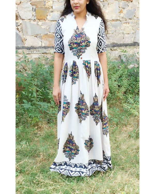 Ivory block dress
