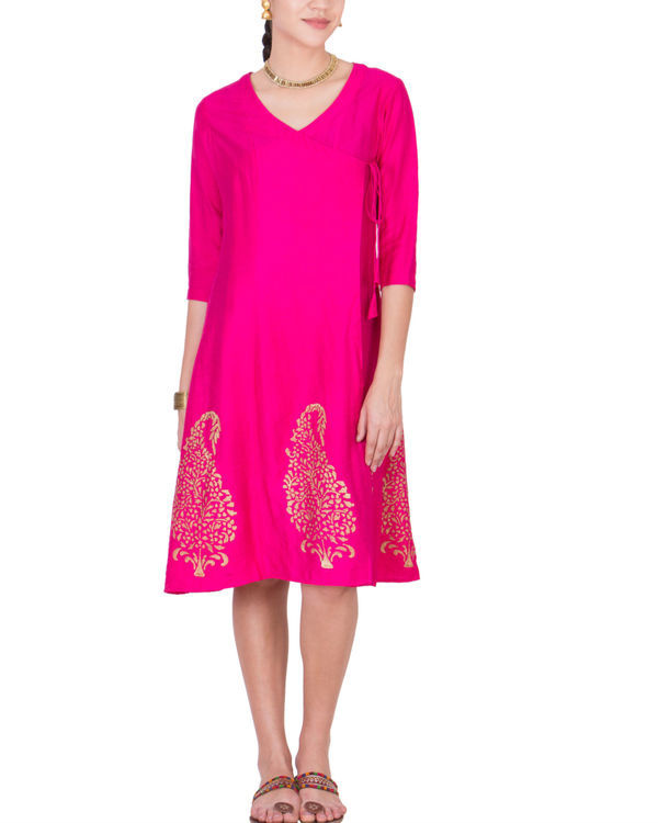 Pink angrakha dress