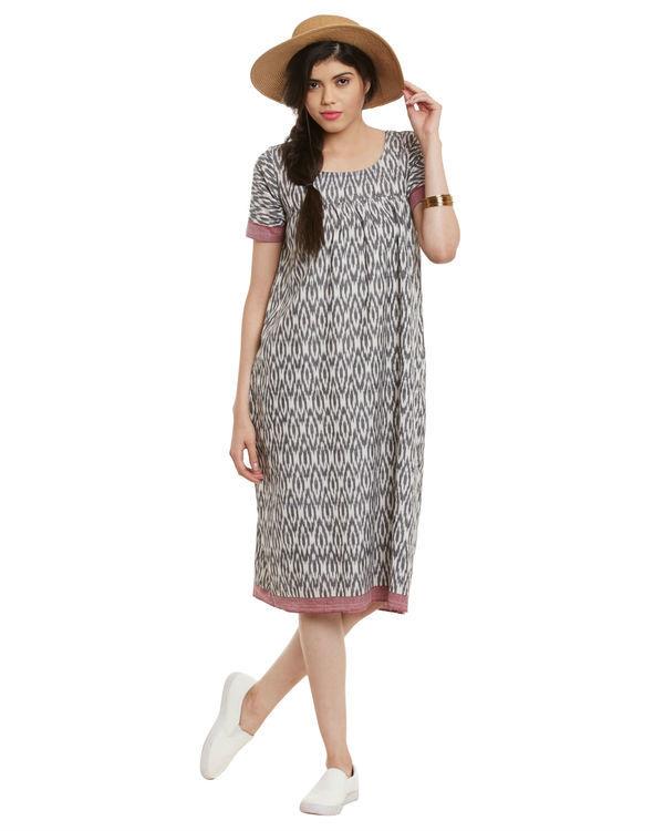 Grey ikat dress