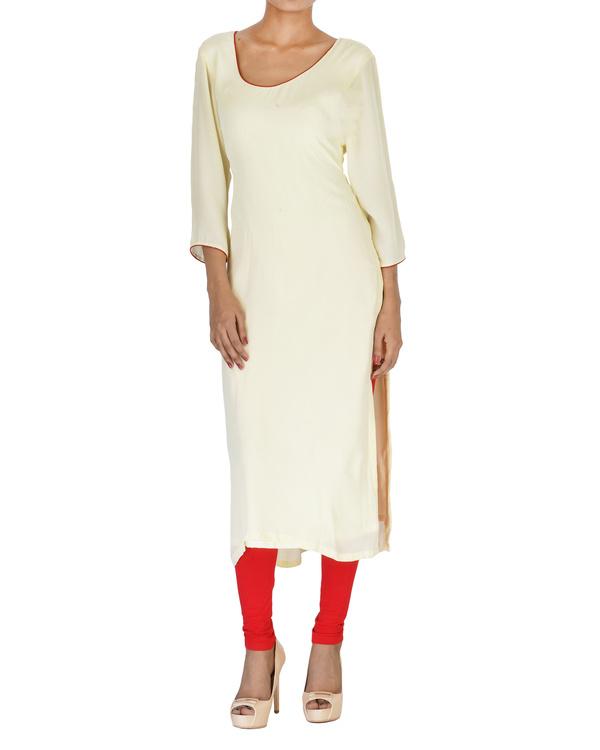 Cream color classic kurta