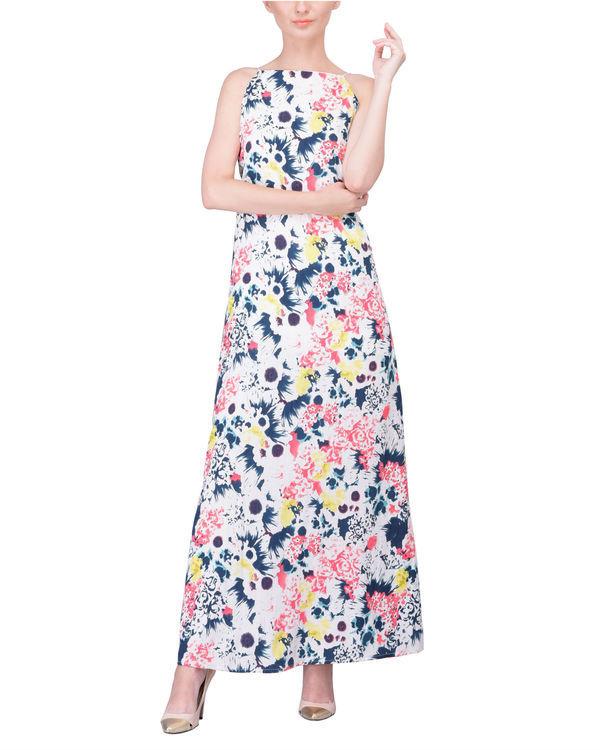 Color spray dress