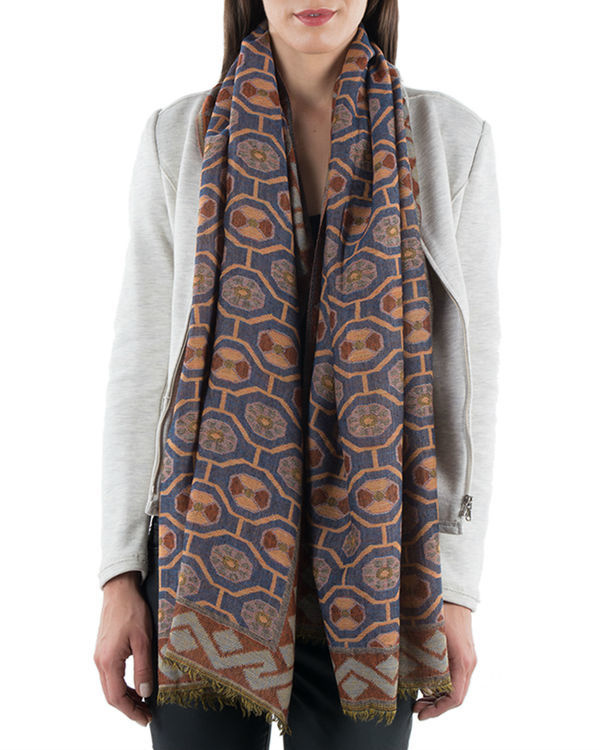 Brown jquared scarf