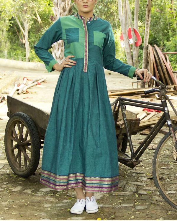 Teal mangalgiri dress