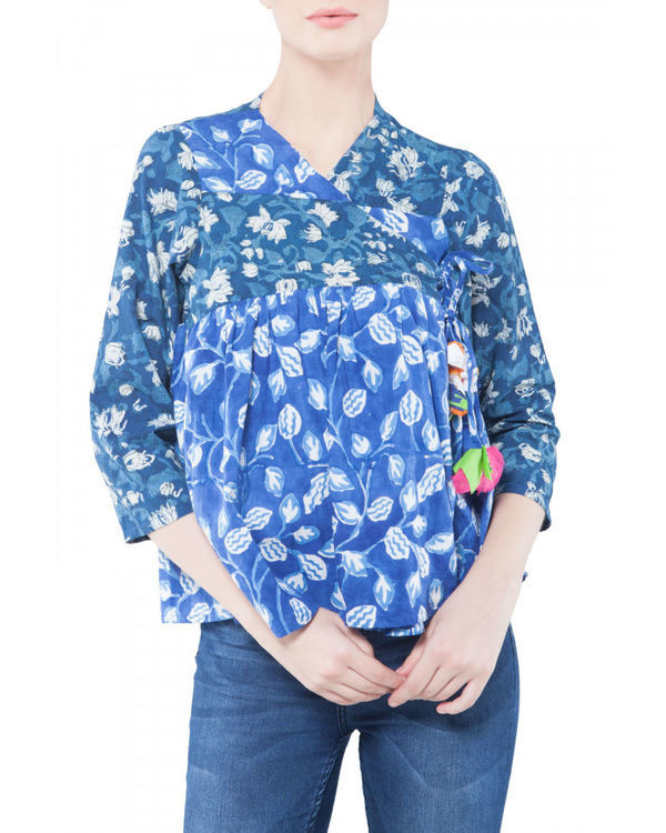 Indigo blue kedia top