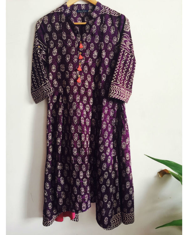 Purple tassled tunic