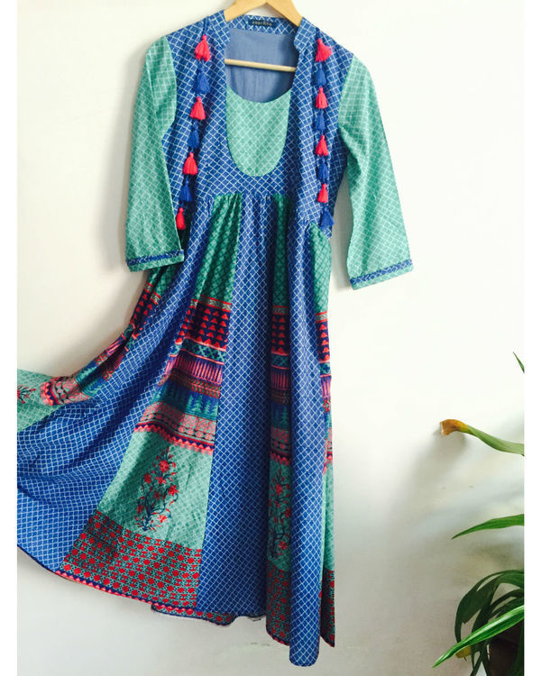 Blue tassel tunic