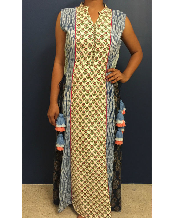 Ladder bagru dress