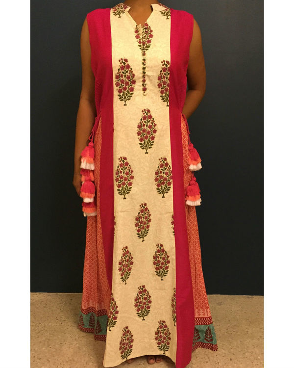 Fuschia bagru dress