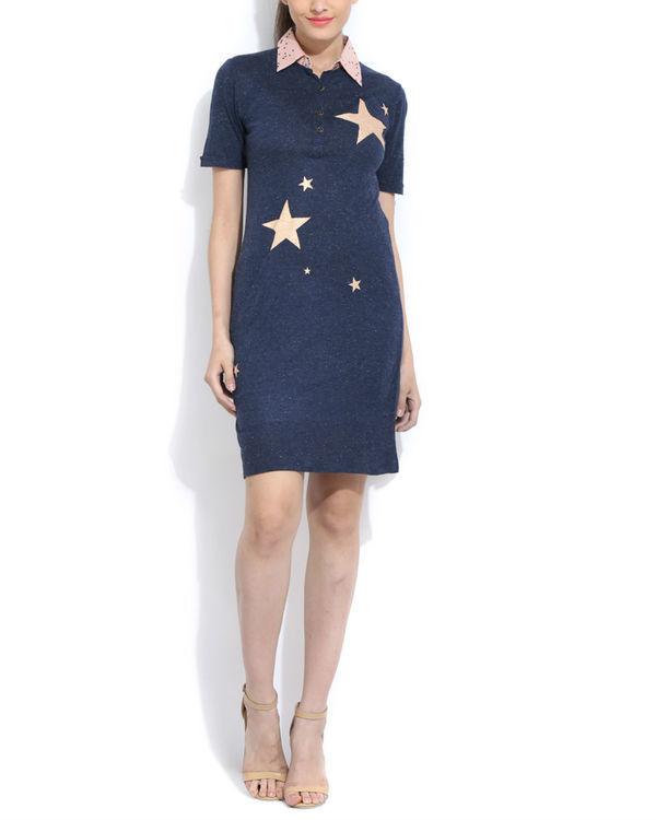 Starry shirt dress