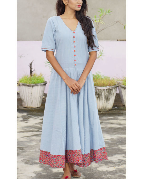 Ice blue tara dress