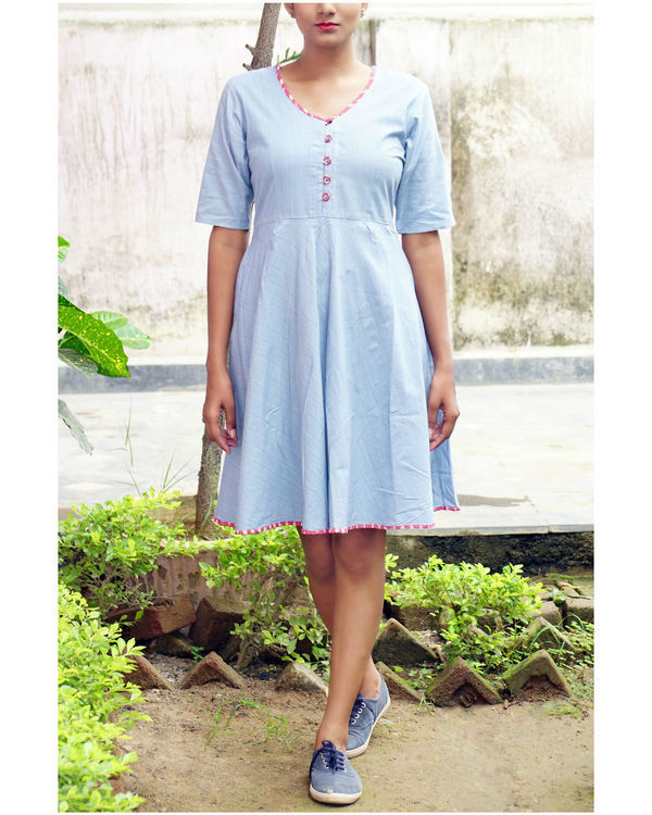 Ice blue midi dress