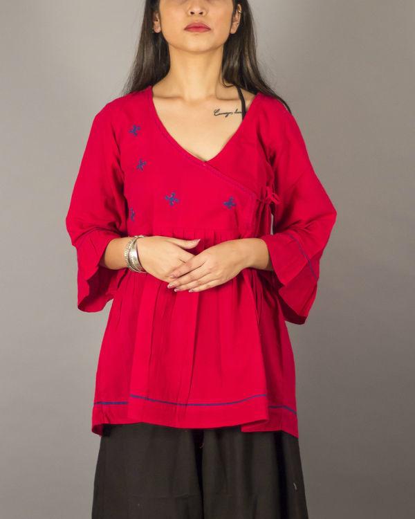 Red angrakha top