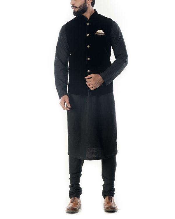 Jet black velvet jacket