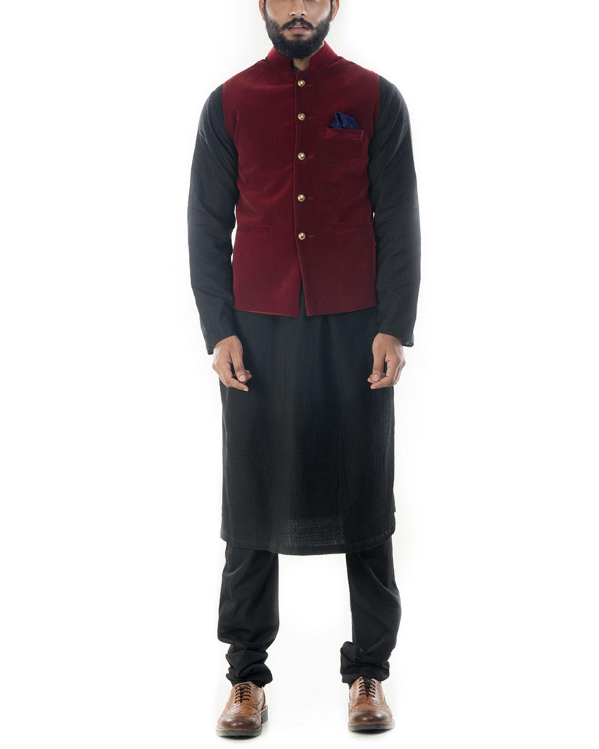 Wine red velvet jacket