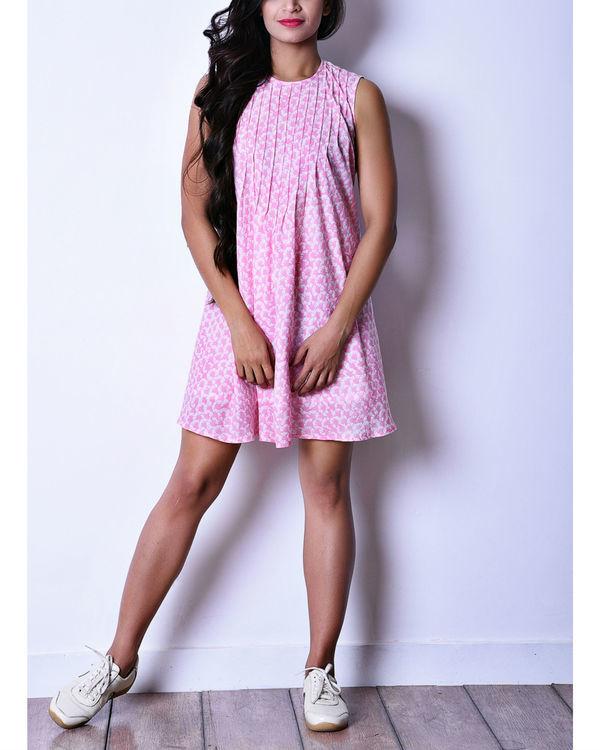 Pink pintuck dress