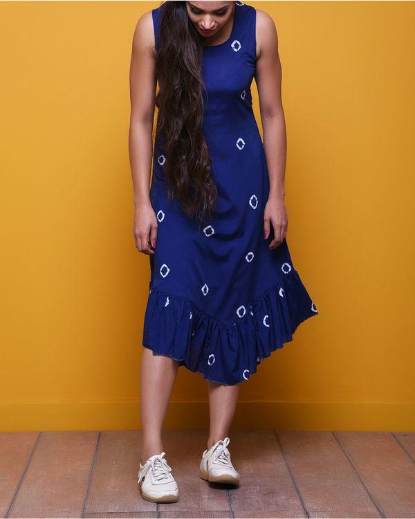 Indigo batik dress