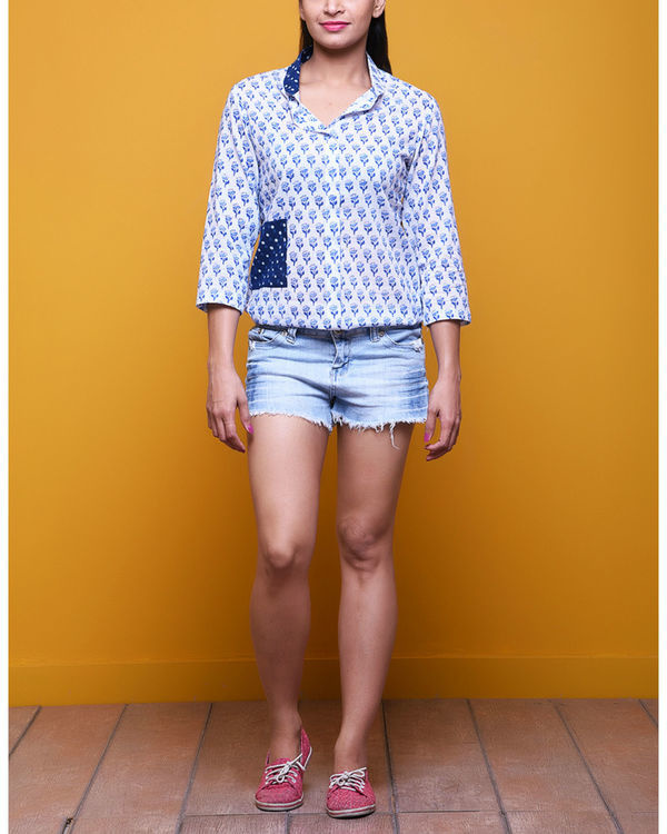 Blue booti shirt
