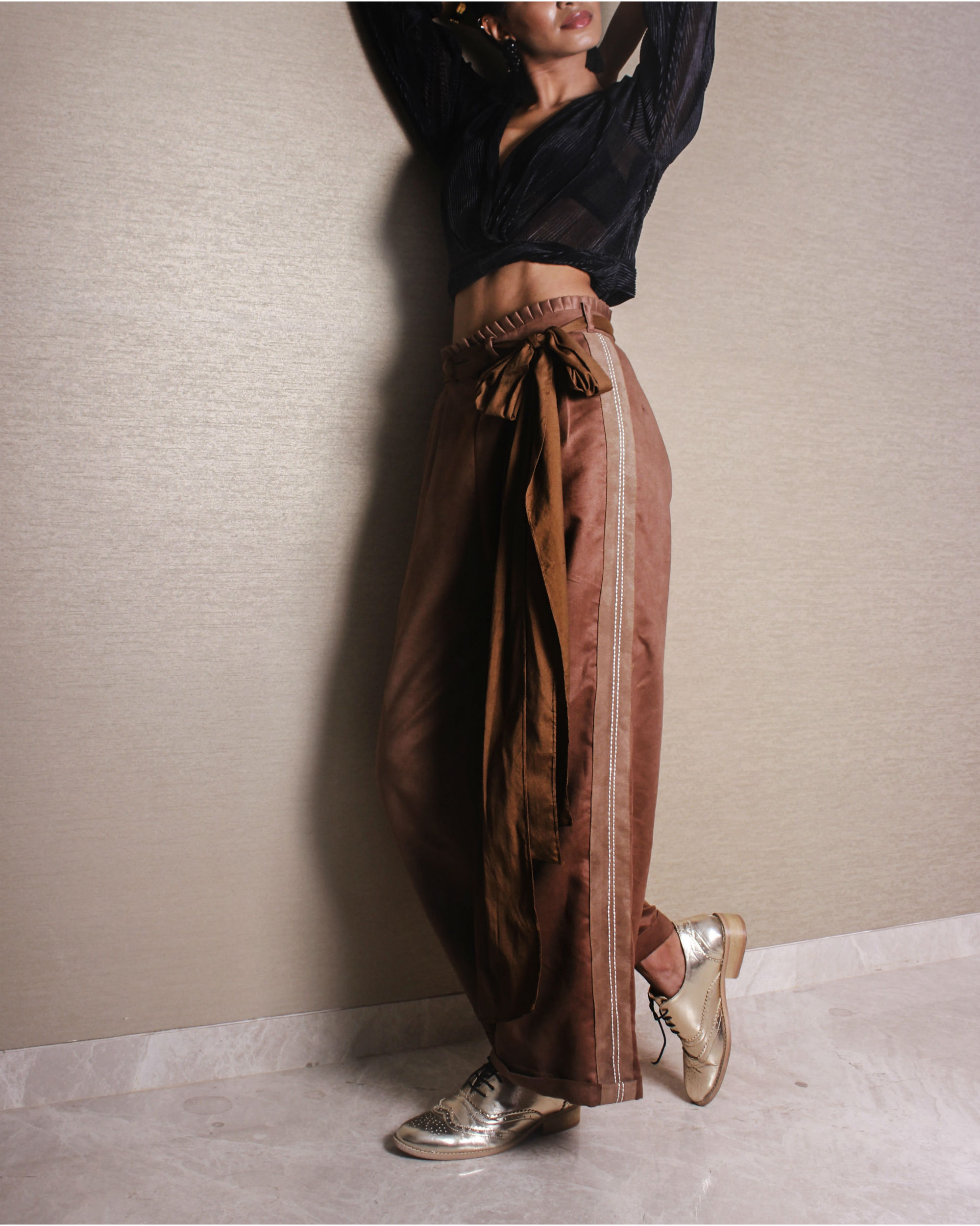 Tan suede pants
