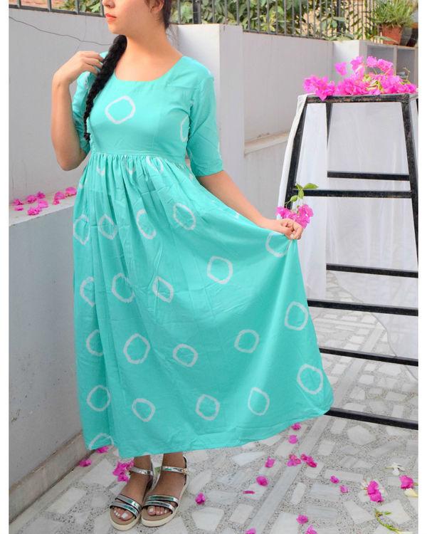 Mint bandhini dress