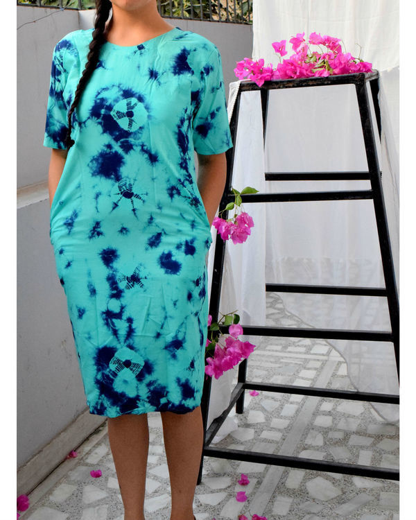 Turquoise marble dress