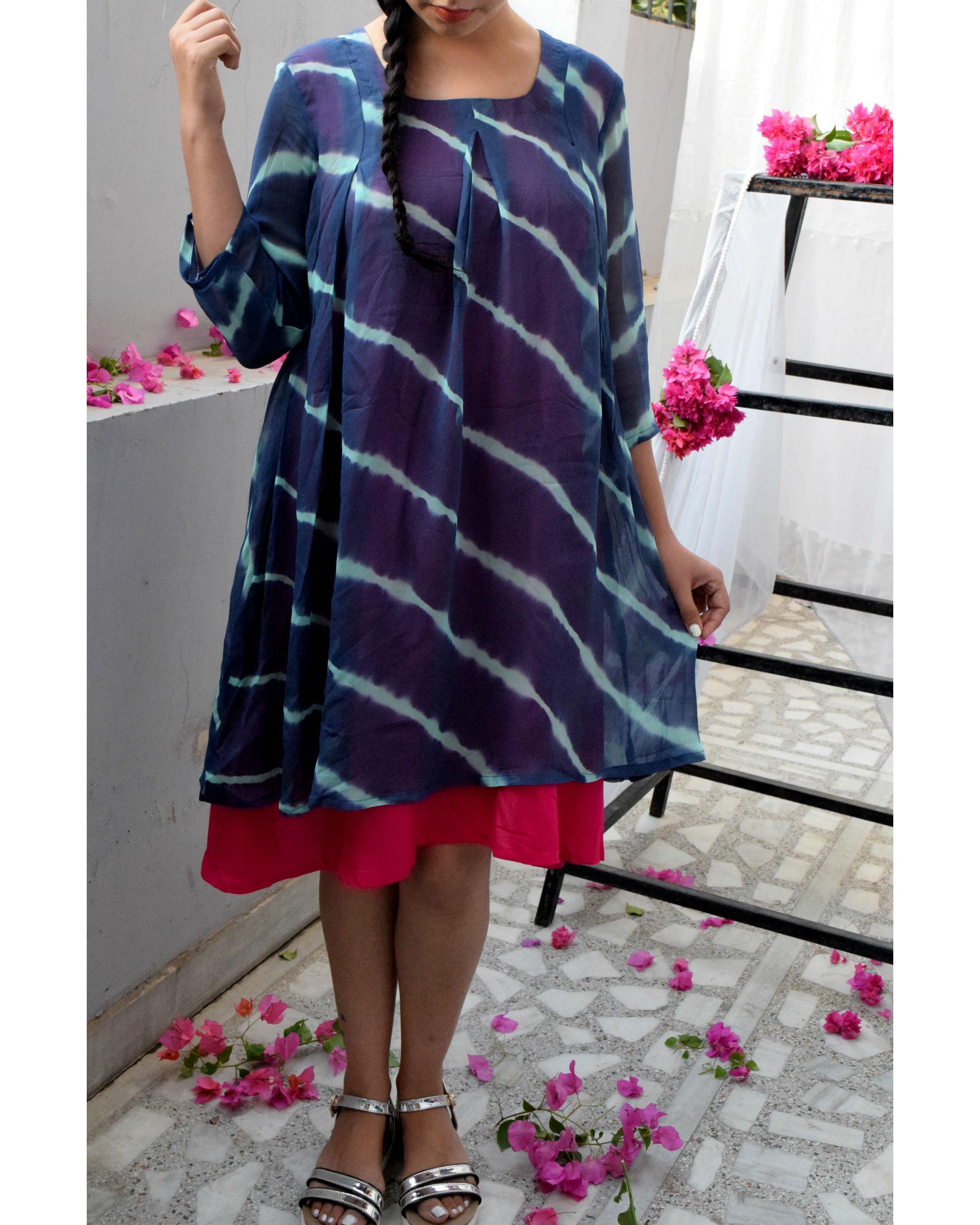 c493db74fb06 Blue leheriya dress by Crimson | The Secret Label