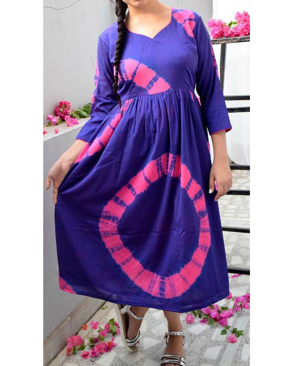 Purple bandhini dress