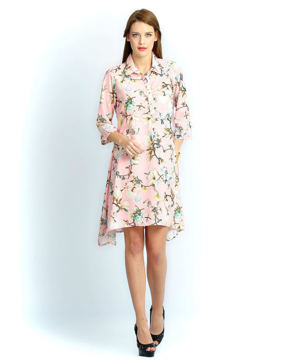 Light pink floral a line tunic