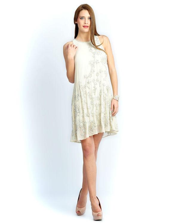 Ivory beaded dress