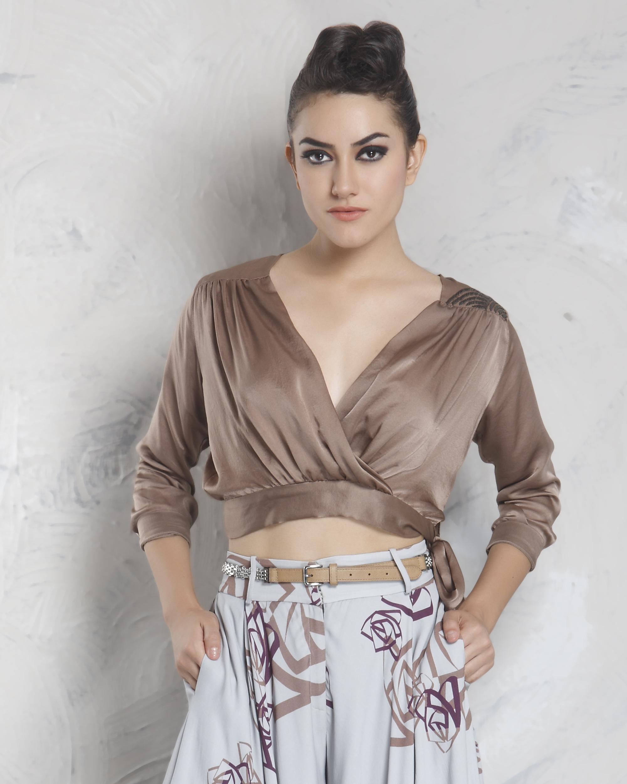 Cedar silk top