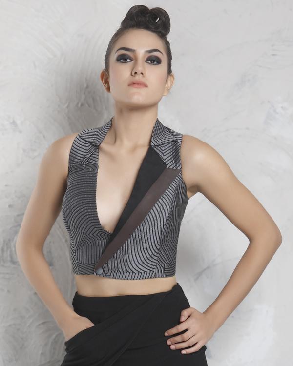 Overlay silk jacket