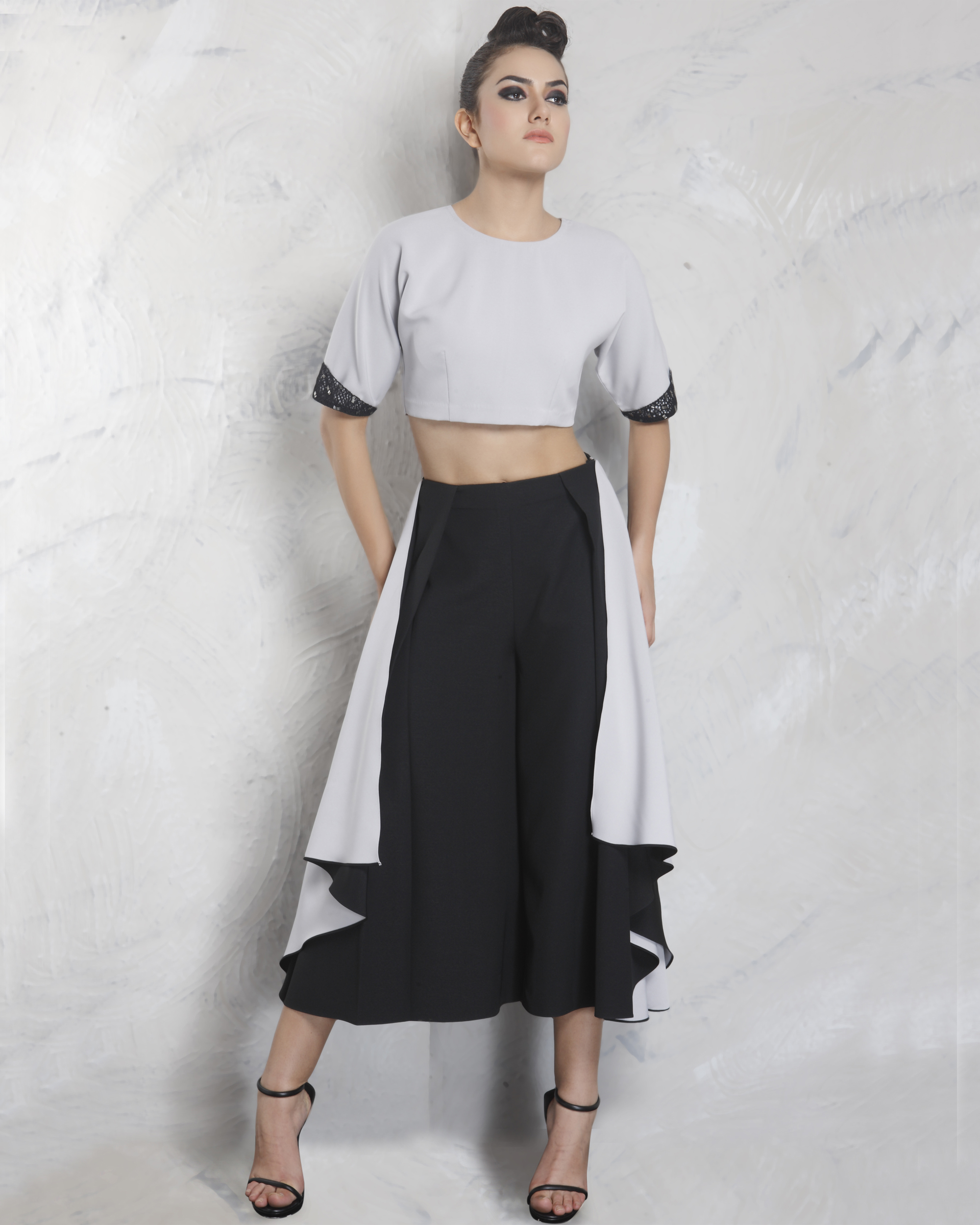 Two tone neoprene culottes