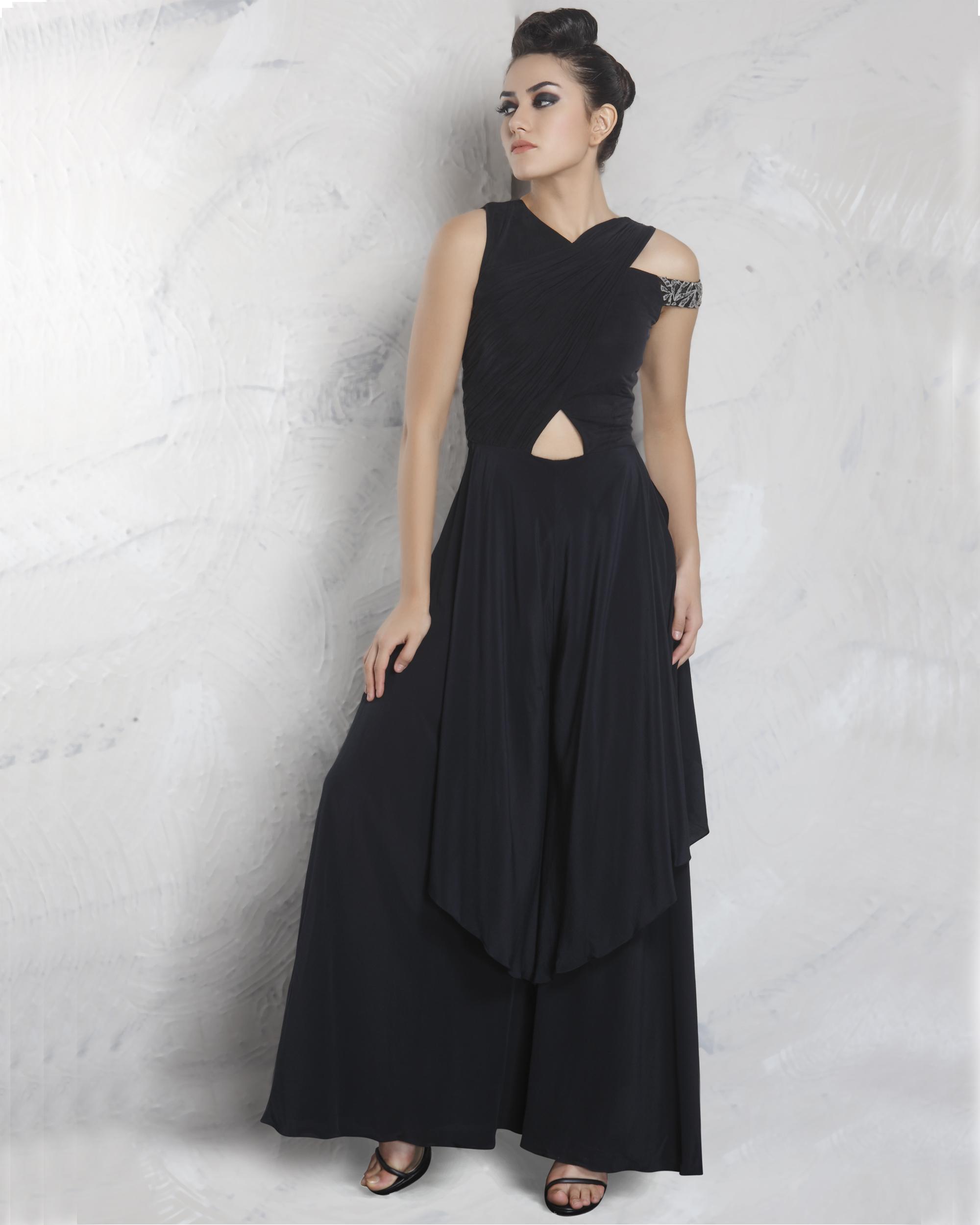 Black double layered jumpsuit