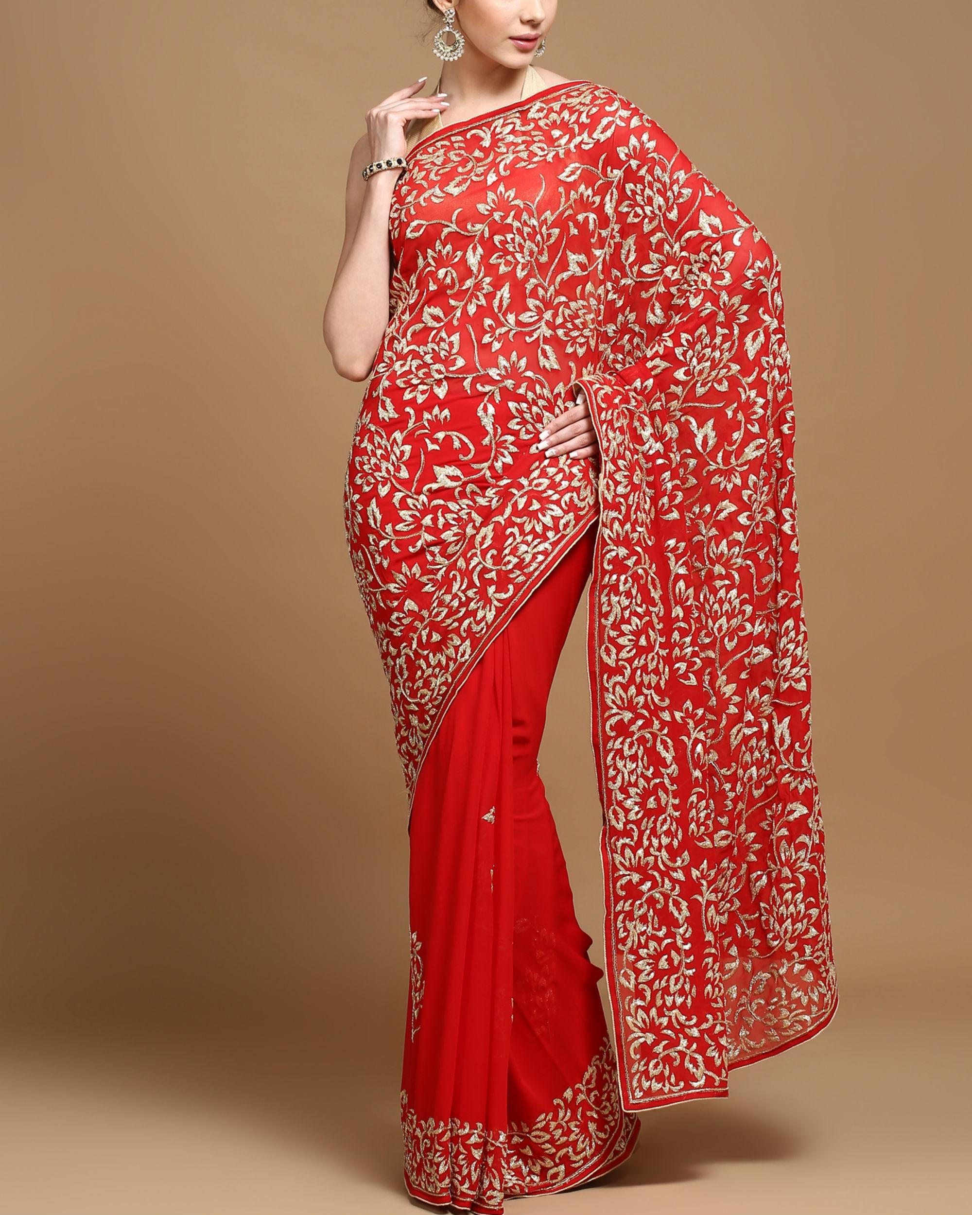Mughal love sari