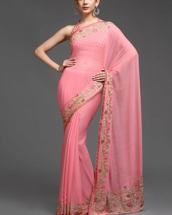 Rosy affair sari