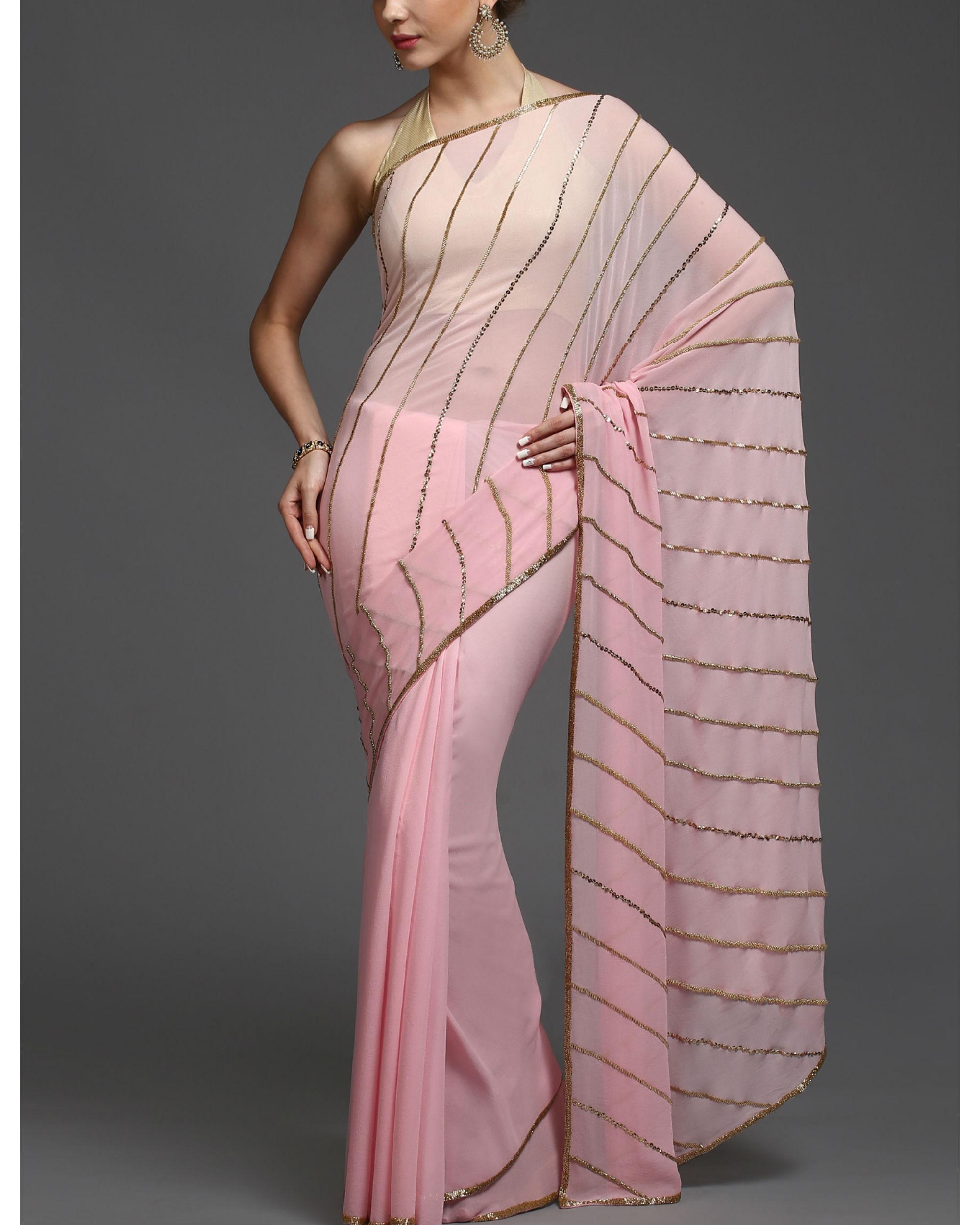 Slanted charm sari