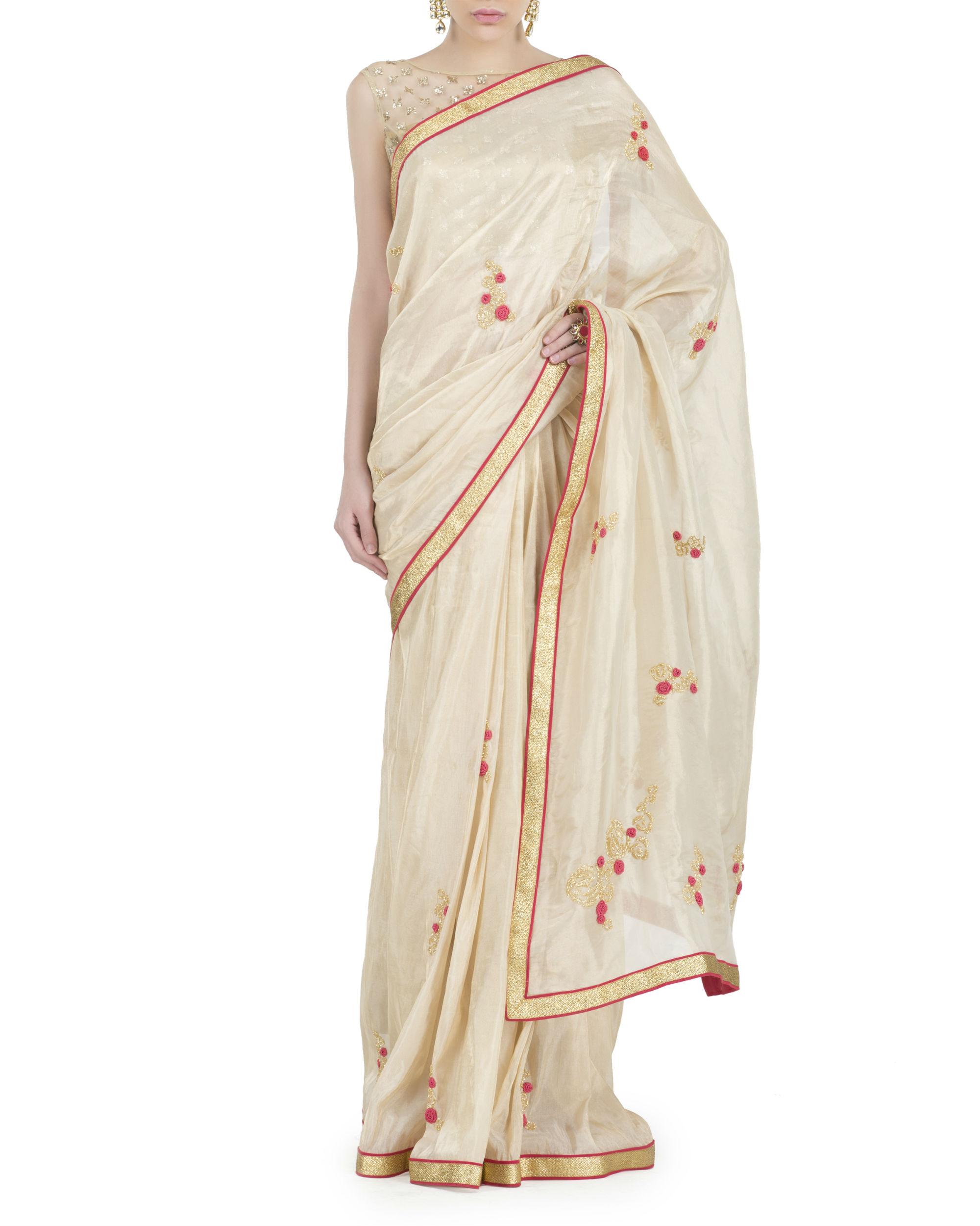 Rose gold sari