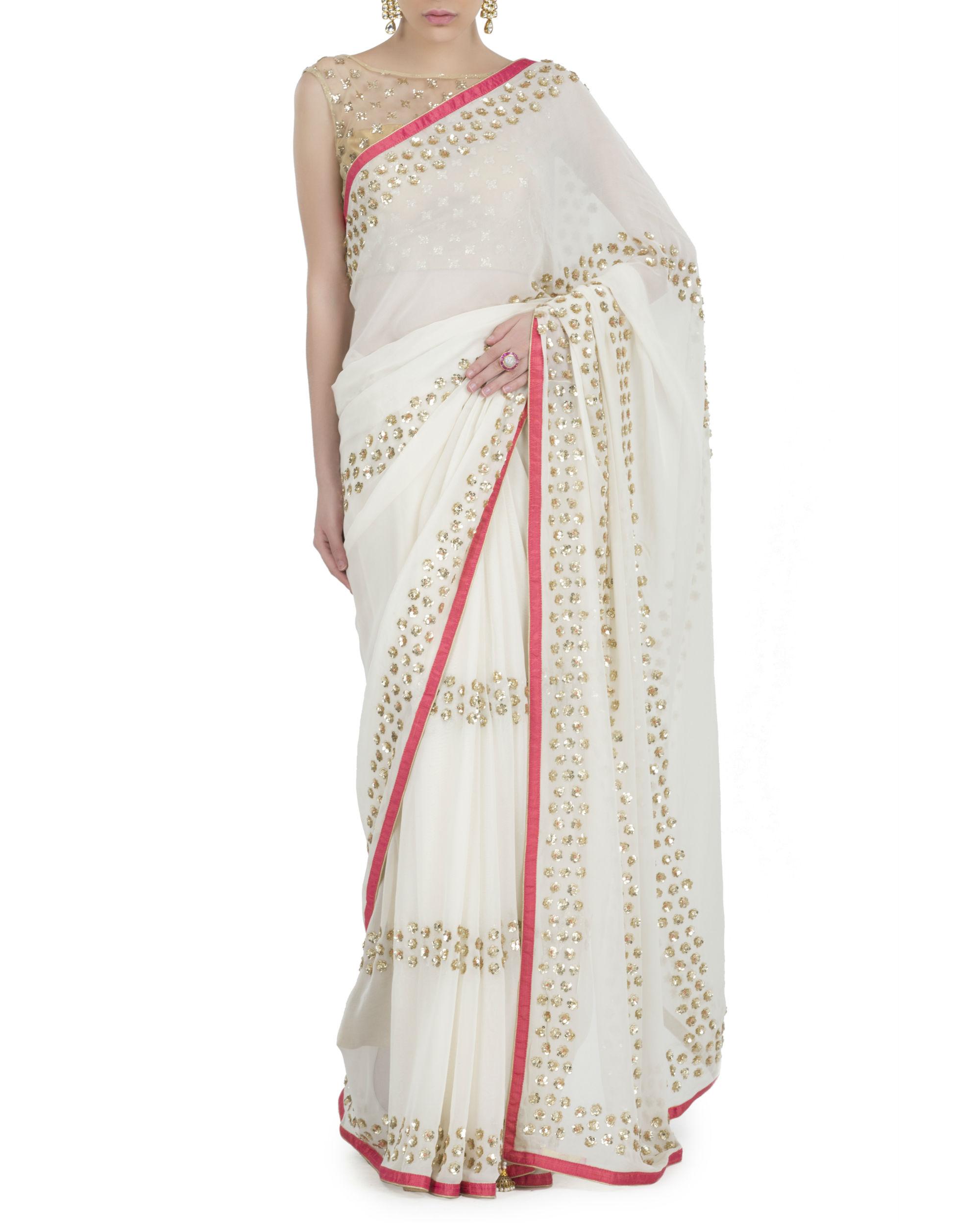 Ivory serenity sari