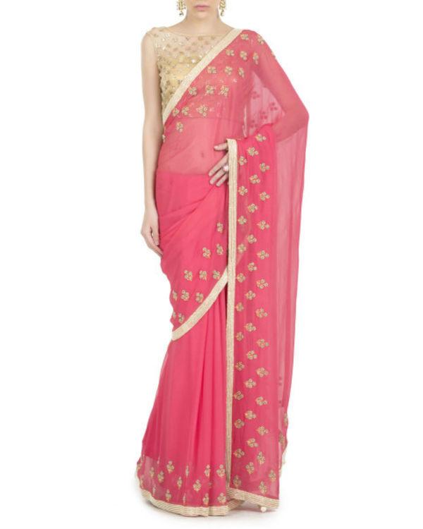 Flowery drizzle sari