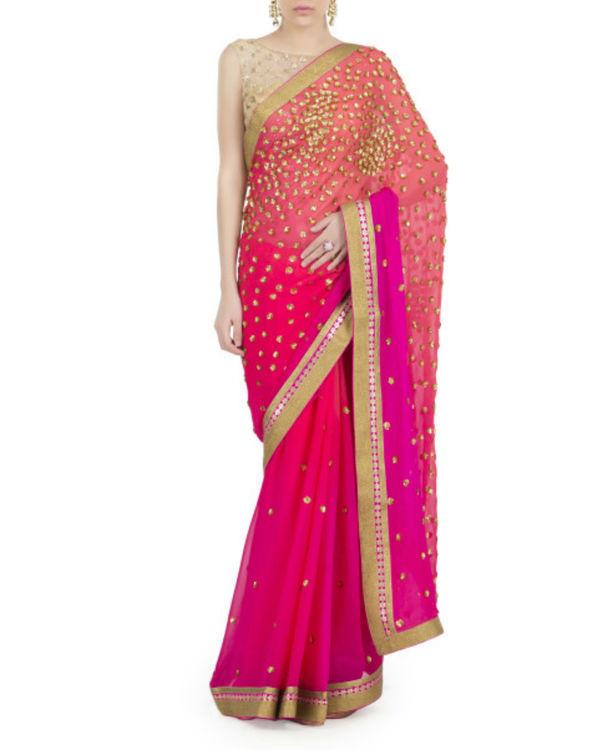 Pink galaxy sari