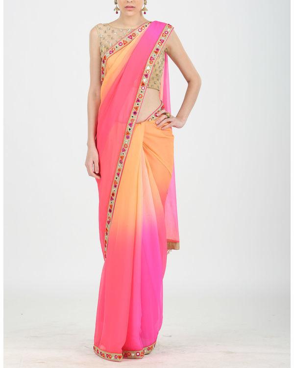 Ombre mirror sari