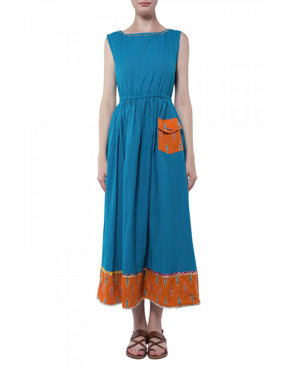 Blue handloom dress