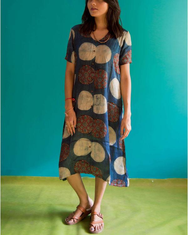 Ajrakh a line dress