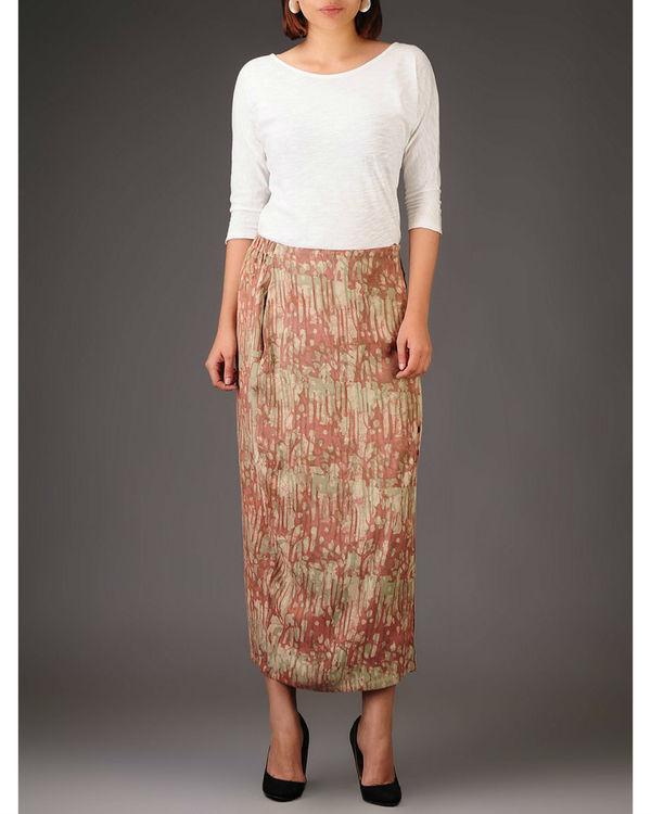 Cocoon side slit skirt