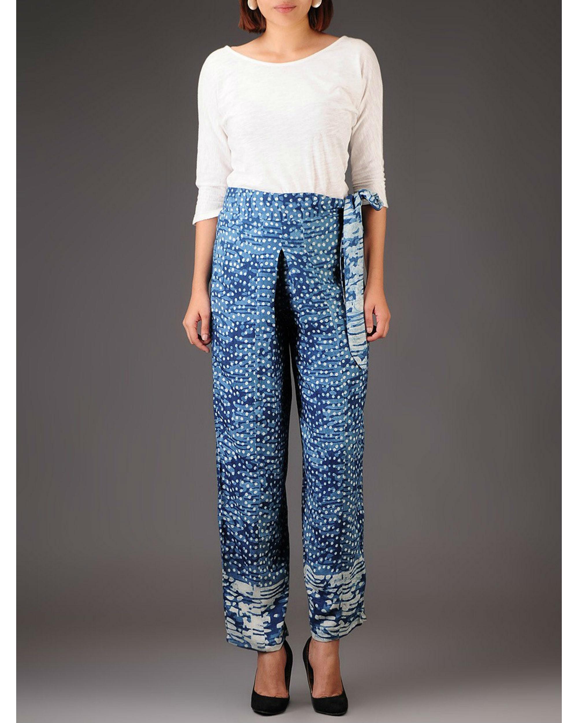 Rosette bow trouser