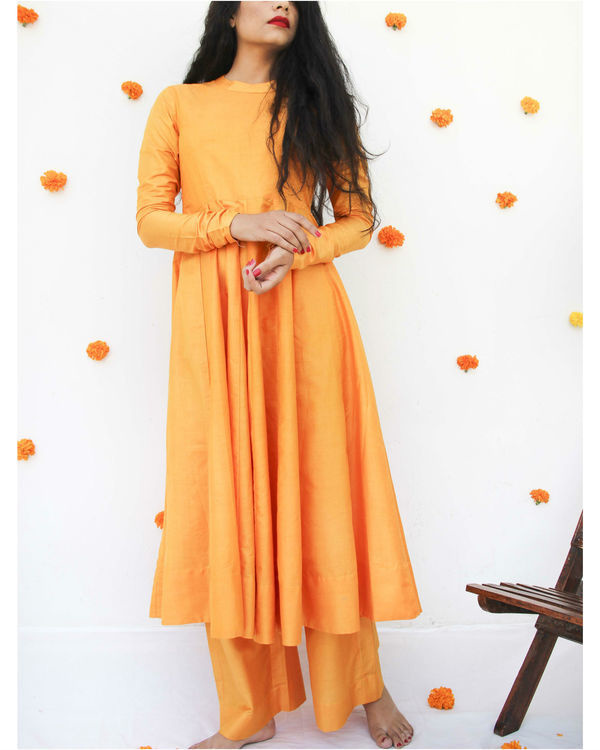 Marigold anarkali set